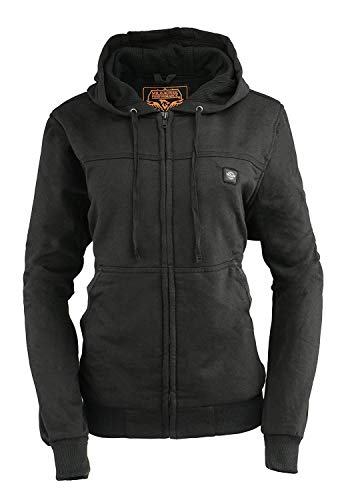 Milwaukee Leather MPL2713SET Women's Black Hoodie with Heating Elements and Battery Pack - Medium