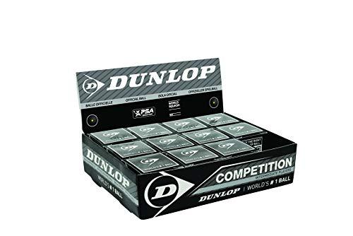 Dunlop Sports Wettkampf-Squashball, Single Yellow Dot, 3-Ball Tube