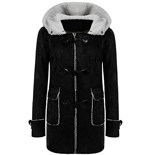 VJGOAL Abrigo de Mujer Invierno Casual Moda Color sólido Ante sintético Cálido...