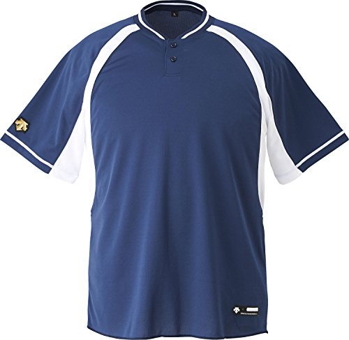 DESCENTE(デサント) 野球 2ボタンベースボールシャツ ホワイト XOサイズ DB103B
