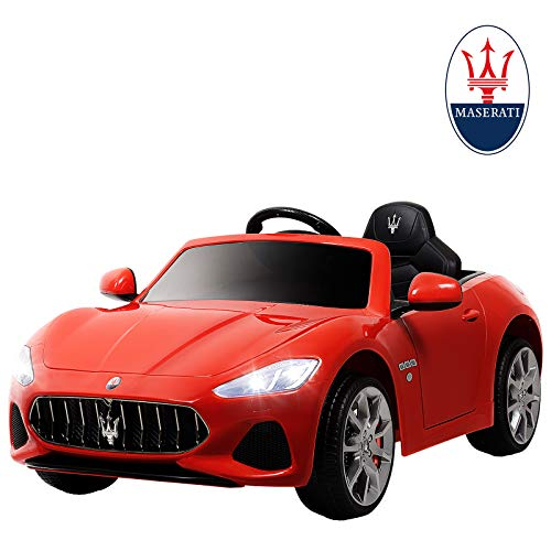 Uenjoy Maserati GranCabrio 12V Electric Kids Ride On Cars Motorized Vehicles with RC Remote Control, Wheels Suspension, MP3 Player, Lights, Red