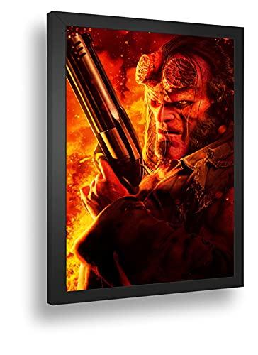 Quadro Decorativo Poste Hellboy Principe Do Inferno Retro