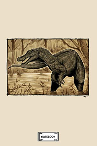 Baryonyx Walkeri Notebook: Lined College Ruled Paper, Diary, Journal, 6x9 120 Pages, Matte Finish Cover, Planner