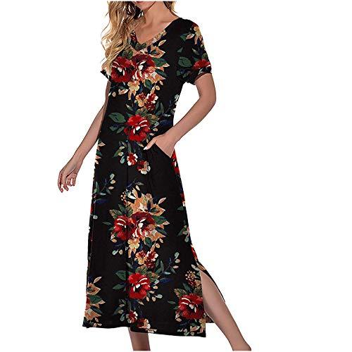 Damen Geburt Stillnachthemd Schwangerschaft Schlafanzug Pyjama Sommer Nachtwäsche Umstandskleidung Nachthemd mit Durchgehender Knopfleiste