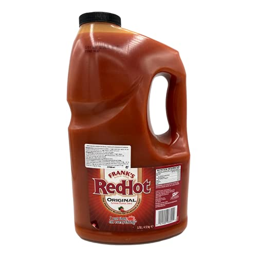 Frank's RedHot Original Cayenne Pepper Hot Sauce, 1 Gallon - One Gallon Bulk Container of Cayenne Pepper Hot Sauce to Add Flavorful Heat to Entrees, Sides, Snacks, and More