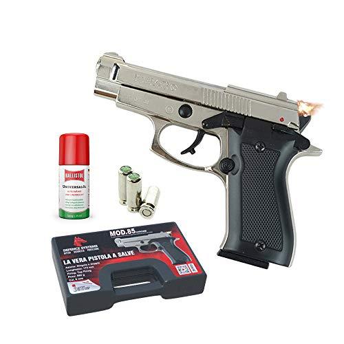 Azione: Doppia o Singola Calibro: 8 mm Caricatore: Monofilare - Colpi: 7 Firing: Top firing Funzionamento: semi-automatica Peso: 860g