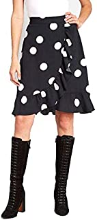 Tanvi Creations Women's Black White Polka Dot A-Line Skirt