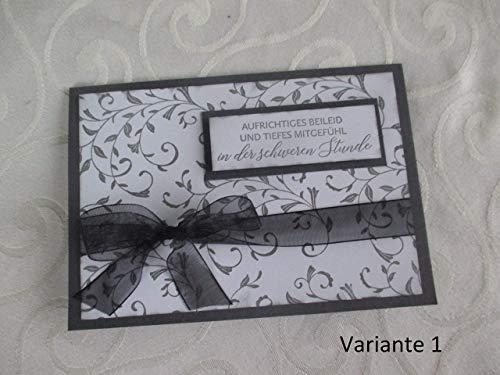 Trauerkarte/Beileidskarte/Kondolenzkarte