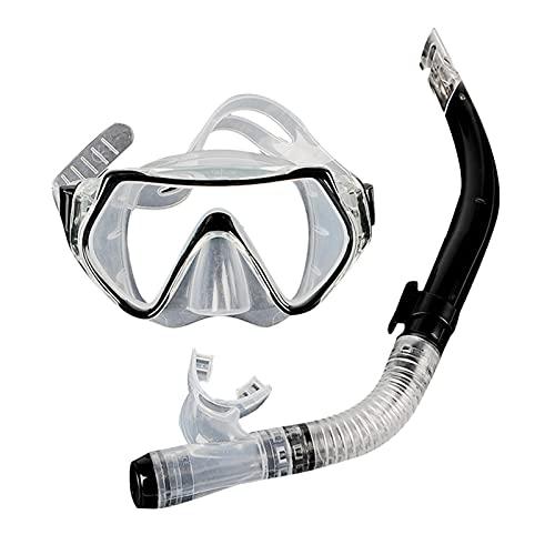 bozitian Snorkel Set Snorkeling Facewear Antivaho Antifugas Conjunto De Snorkel Seco, Equipo De Snorkel De Fácil Respiración con Tubo De Respiración para Adultos