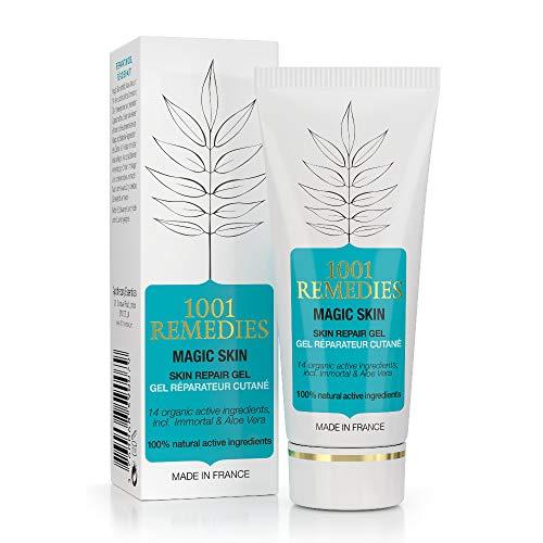 1001Remedies Crema Antimanchas Facial - Acne Tratamiento, Anti Acne Gel Aloe Vera Con Arbol de Té y 14 Aceites Esenciales - Antimanchas Facial y Corporal, 100% Natural y sin Parabenos