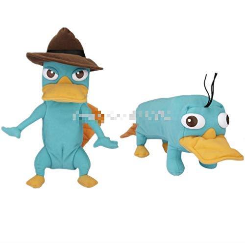 JMHomeDecor Plüschtier New Perry Das Schnabeltier-Sortiment 2 Plüsch-Kinderspielzeug Für Kinder Geschenke 25Cm