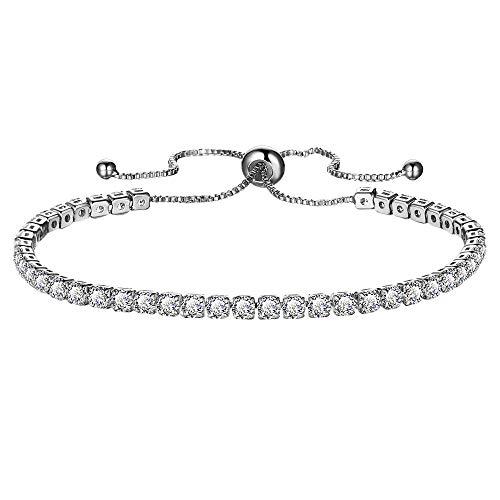 Lialbert Armband Frauen Silber/Gold Armreif Mit Strass Damen Einstellbare Glitzer Armkette Bettelarmband Modeschmuck