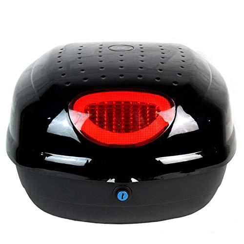 LUKUCEA Baúl de Moto Universal 35L con Llaves y Accesorios Topcase Casco Moto Caja de Motocicleta Ciclomotores Scooter