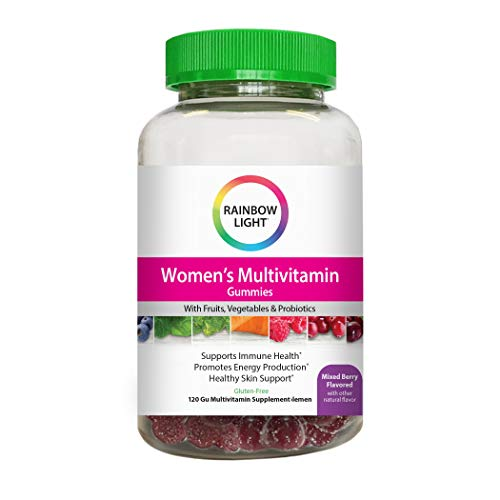 Rainbow Light® Women's Multivitamin Supplement, Supports Immune Health and Promotes Natural Energy Production With Vitamins B, C and D, Mixed Berry Flavored Chewable Gummies, 120 Count
