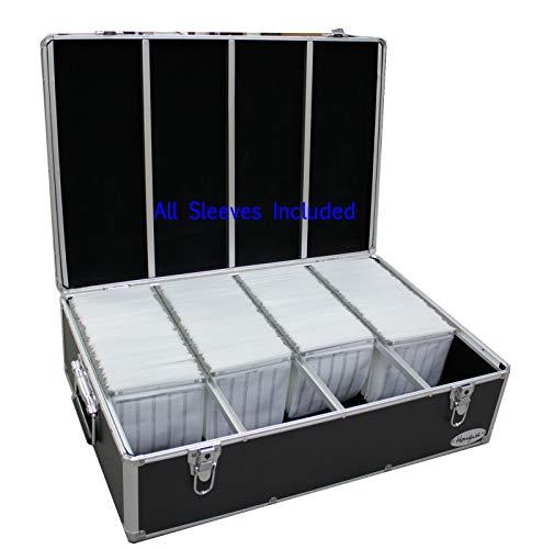 New MegaDisc 1000 Cd DVD Black Aluminum Hard Case for Media Storage Holder w/Hanger Sleeves