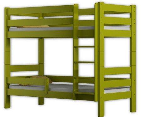 Letto a castello 'Sophie', due posti letto, struttura in legno di pino, 180x 80 cm, Legno, Green, 180x80