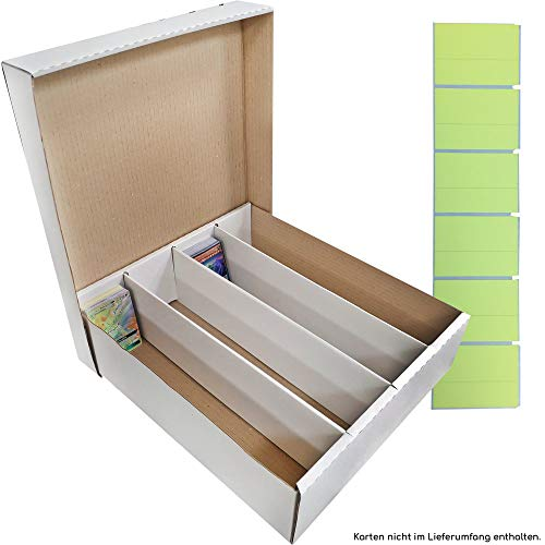 TCG Riesen Aufbewahrungbox - Deck-Box für 4000 Karten (Magic/Pokemon/YuGiOh Karten) inkl. 120 Beschriftungsetiketten