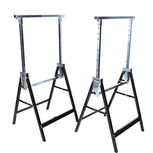 2 x Pesado Constructores Telescópicos Caballetes de Andamio Extensible Plegable Escalera Escalera de Extensión Carga hasta 200KG