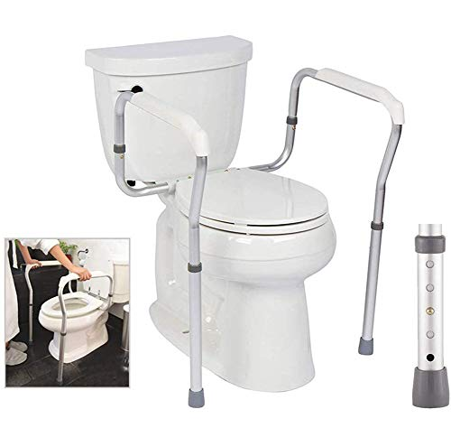 Toilet Surround Rail Safety Frame, Bathroom Handrail, Elderly Toilet Seat Armrest Toilet Auxiliary Frame Barrier-free Disabled Person Safety, Best Gift for Parents the Elderly in Rehabilitation