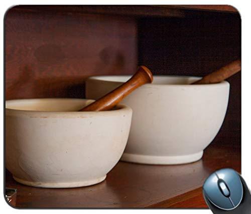 Yanteng Alfombrilla de ráton de Juego de Costura de precisión, Patrón de Cuenco de cerámica Rectángulo Personalizado Alfombrilla de ratón Antideslizante Alfombrilla de ratón de Juego