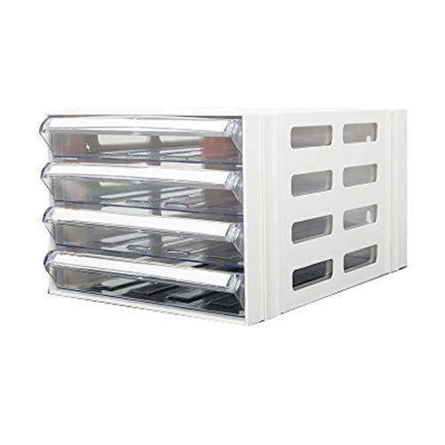 QIQIDEDIAN Gabinete de Archivo A4 Escritorio cajón de plástico Tipo Tabla de gabinete de Archivo de Tabla de Almacenamiento de Datos bajo el gabinete de Actividad (Color : White)
