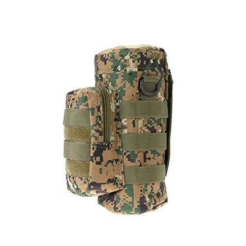 Im Freien Taktischen Tasche Adjustable Tactical Wasserflasche Beutel Faltbare Molle Wasserflaschenhalter Geräteträger Für Rucksack Gürteltasche Gürtel Dschungel-digital-Tarnung
