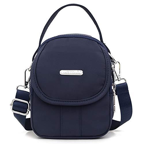 Myhzoee Damen Umhängetasche Handtasche, Kleine Handytasche Mini Tasche Mode Bauchtasche Damentaschen Geldbörse Portemonnaie Citytasche für Damen Mädchen Frauen, Blau