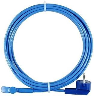 Calentador de tubería térmico, eléctrico, banda calefactora, autorregulable, listo para enchufar, producto de marca, Azul 70.00W, 230.00V