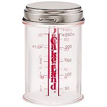 タイガークラウン パウダー缶 クリア 75×120mm 粉糖ふり メタクリル樹脂 ステンレス網 目盛付 カバー付 81