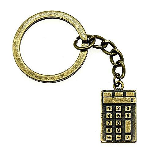 Bijvoorbeeld sleutelhanger accessoires sleutelhanger voor mannen rekenmachine modesieraad verjaardagscadeau 23 x 13 mm hanger antiek brons