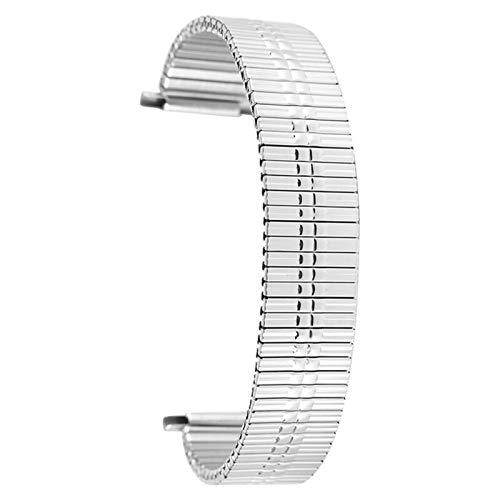 ZXF Correa para reloj, correa de acero inoxidable de 22 mm, longitud retráctil, correa de reloj de plata y oro (color de la correa: plata, ancho de la correa: 22 mm)