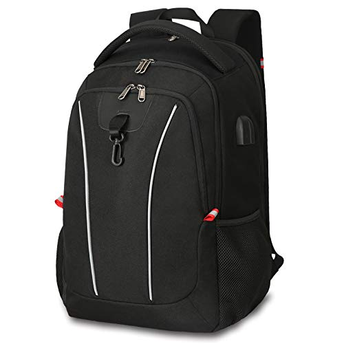 Travel Backpack, Large Laptop Business Backpack Bag with USB Charging Port Water Resistant School Rucksack Fits up to 15.6-17.3 Inches Business College Outdoor Travel Hiking Bag For Women Men