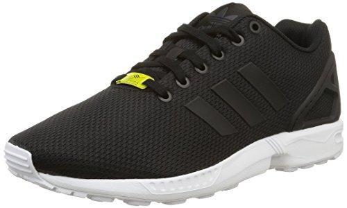 Adidas Zx Flux, Scarpe da Corsa Unisex Adulto, Nero (Black/Black/White), 41 1/3