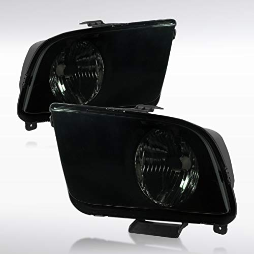 Autozensation For Ford Mustang Smoke Euro Head Lights Lamps Pair