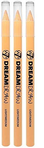 W7 Dream Draw 3in1 Concealer Lip Liner Eye Brightener Pencil Light Medium 3...