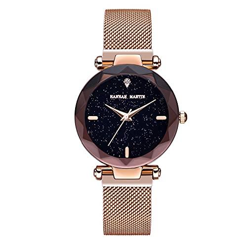 YDHNB Mujere Relojes con Correa de Acero Inoxidable Impermeable Relojes de Pulsera Moda Vestir Negocio Casual Reloj de Cuarzo para Mujeres Mujer