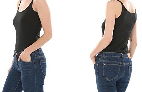 Basic-T-shirt voor dames in nonchalante stijl, lijn Basic, zwart