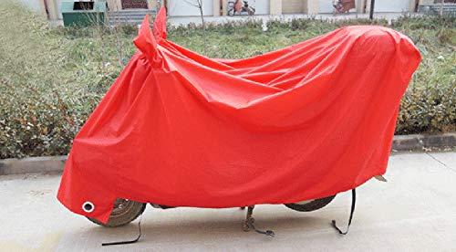 Cubierta del coche de la motocicleta Batería del coche eléctrico Protector solar del coche Cubierta de lluvia Cubierta de la ropa del coche Sombrilla Procesamiento de tela personalizado (rojo, grande)