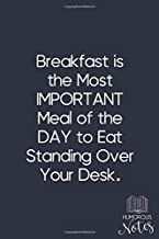 Breakfast Is The Most IMPORTANT Meal Of The DAY To Eat Standing Over Your Desk.: Funny Gag Gifts for The Office: Lined Jou...