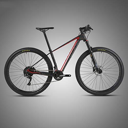 MICAKO Bicicleta Montaña 29'', M6000-30 Velocidad, Freno de Disco de Aceite Shimano, Full Suspension, Fibra de Carbon