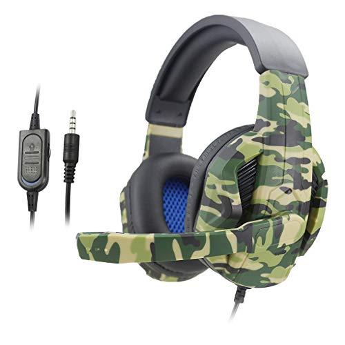 FAKEME Camo Stereo Headset para Jogos com Fio de 3,5 Mm com Microfone para PS4 NS Xbox One 360