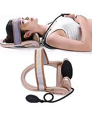Dispositivo de tracción cervical, Dispositivo de tracción de vértebra cervical inflable Masajeador Alivio del dolor Masaje de cuello Almohada Postura Ejercicio de cuello La bomba(Dispositivo cervical)