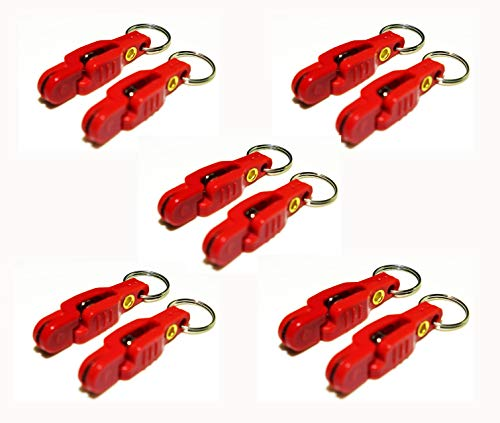 Bimini Lures Pro Snap Weights for trolling - Red Clip (Red - 10 Clips...
