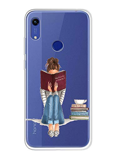 Oihxse Compatible pour Coque Huawei Nova 5T/Honor 20 Étui Liquid Crystal Ultra Mince Transparent TPU Silicone Housse Protection Bumper Souple Mignon Modèle Anti-Rayures Case(Fille)