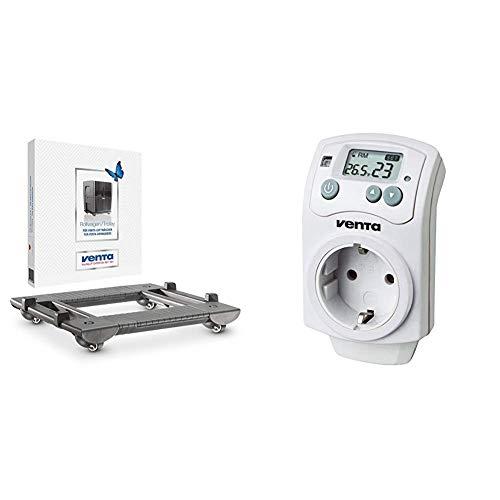 Venta Rollwagen, anthrazit 6060400 & Hygrostat / digitaler Steckdosen Hygrostat / automatische Regulierung der Luftfeuchtigkeit