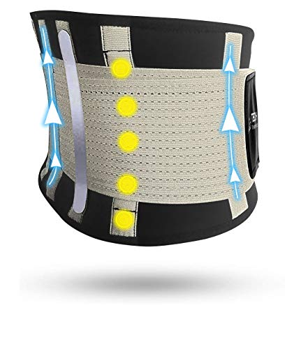Fascia Lombare Supporto Schiena Tech Therapeutics - Cintura Lombare di Sostegno Fascia Schiena Elastica Addominale Uomo Donna...