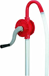 Lumax Red LX-1320 Deluxe Rotary Barrel Pump. Ideal for Heavy Duty Use in Industrial, Automotive and Agricultural Applications. Fits 15 to 55 Gallon Drums