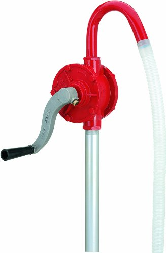 Lumax LX-1320 Red Deluxe Heavy Duty Rotary Barrel Pump. Ideal for Heavy Duty Use in Industrial, Automotive and Agricultural Applications. Fits 15 to 55 Gallon Drums.