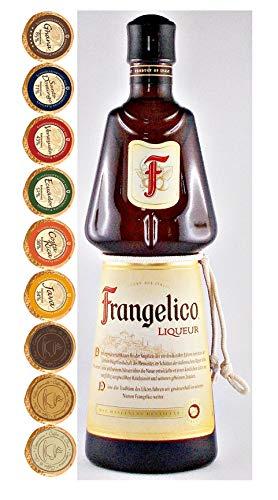 Frangelico Haselnusslikör + 9 Edelschokoladen in 9 Geschmacksvariationen