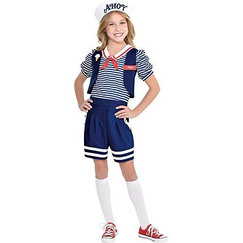 Party City Stranger Things Robin Scoops Ahoy Halloween Costume for Girls, Large (12-14), Includes Accessories